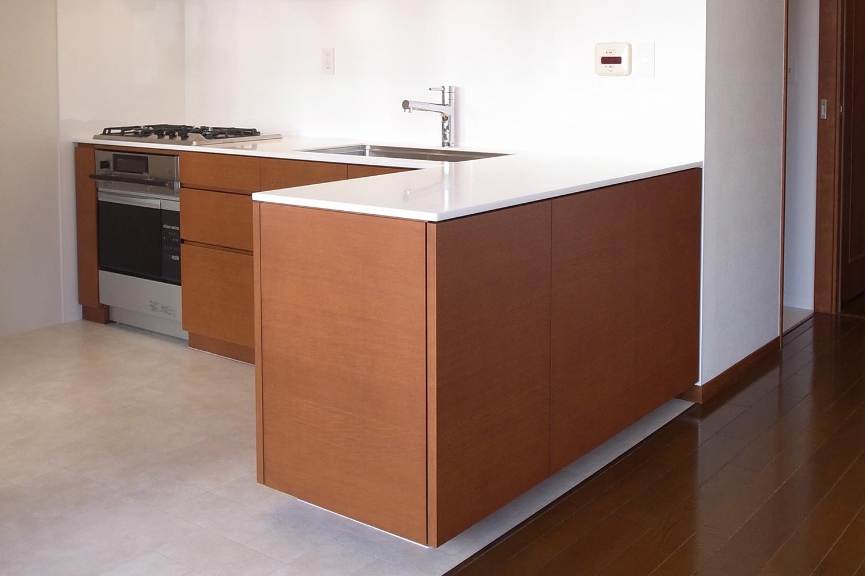 キッチンの製作事例T03