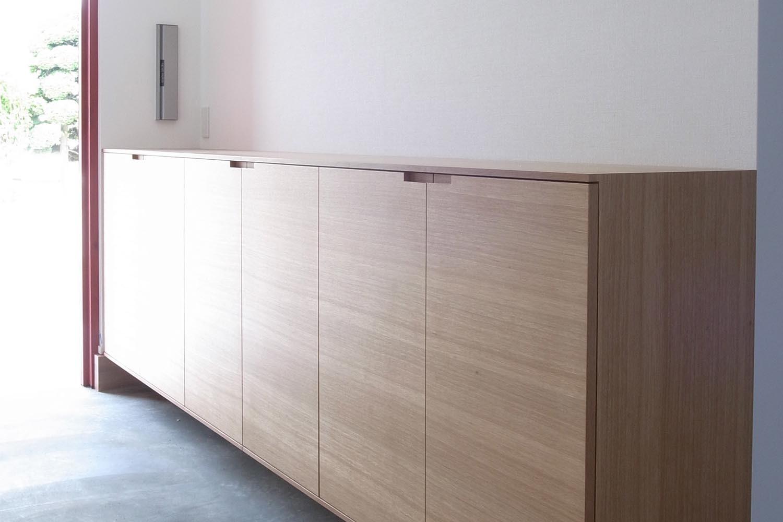 玄関収納の製作事例T01