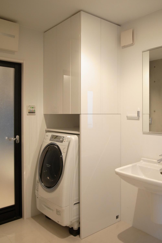 洗面室収納の製作事例11