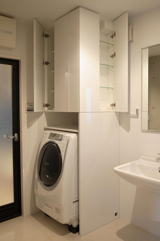 洗面室収納の製作事例12